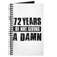 72 years of not giving a damn Journal