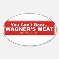 Wagner's Meat Oval Decal