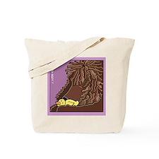 Sleeping Irish Water Spaniel Tote Bag