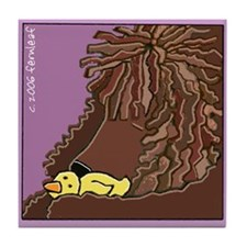 Sleeping Irish Water Spaniel Tile Coaster
