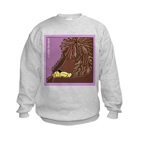 Sleeping Irish Water Spaniel Kids Sweatshirt