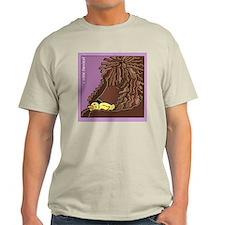 Sleeping Irish Water Spaniel Ash Grey T-Shirt