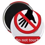 Do not touch sign 2.25