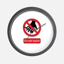 Do not touch sign Wall Clock