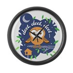 Deet, Deet, Deet Large Wall Clock