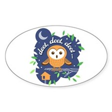 Deet, Deet, Deet Sticker (Oval)