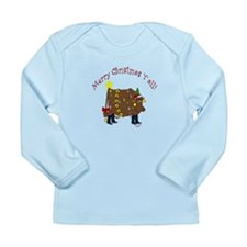 Merry Christmas Y'all Long Sleeve Infant T-Shirt