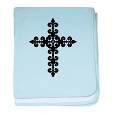 Black Cross Infant Blanket