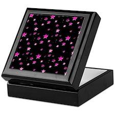 Pink Stars Keepsake Box