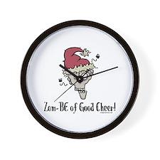 Zom-BE of good cheer Wall Clock