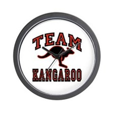 Team Kangaroo Wall Clock