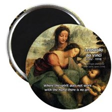 Leonardo da Vinci Art Spirit Magnet
