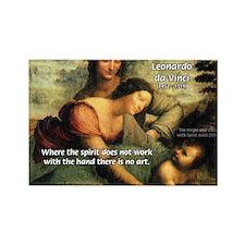 Leonardo da Vinci Art Spirit Rectangle Magnet (100