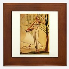 Gill: 'Wahine with Basket' Framed Tile
