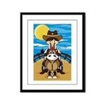 Cowboy Sheriff Riding Horse Framed Print (Small)