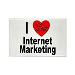I Love Internet Marketing Rectangle Magnet (10 pac