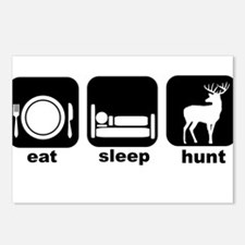 Eat Sleep Deer Hunt Deer Camp Postcards (Package o