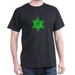 Celtic Star of David Black T-Shirt