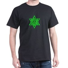 Celtic Star of David Black T-Shirt