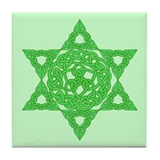 Celtic Star of David Tile Coaster