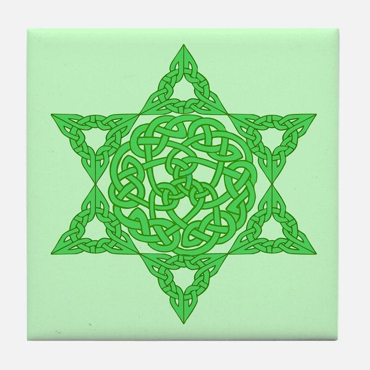 Celtic Star of David Tile Coaster