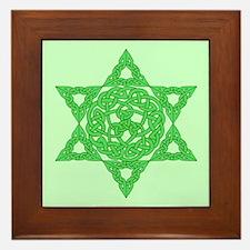 Celtic Star of David Framed Tile