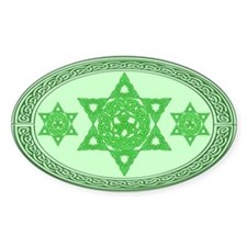 Celtic Star of David Oval Decal