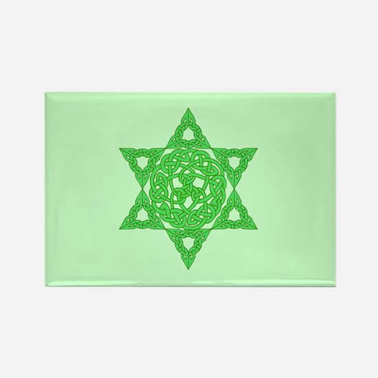 Celtic Star of David Rectangle Magnet
