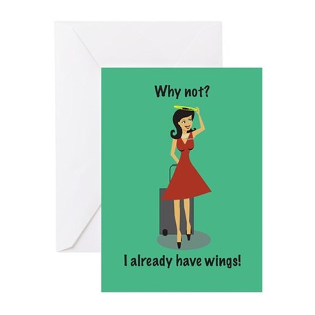 Happy Holiday Angel FA Greeting Cards (Pk of 10)