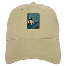 Boston Terrier Bartender Baseball Cap