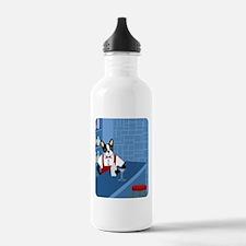 Boston Terrier Bartender Water Bottle