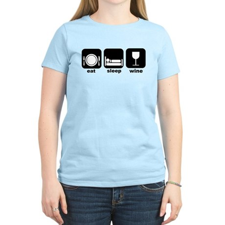 Eat Sleep Wine Book Club Women's Light T-Shirt