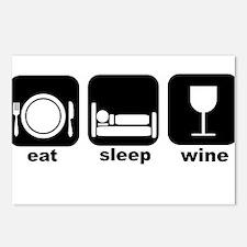 Eat Sleep Wine Book Club Postcards (Package of 8)