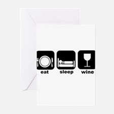 Eat Sleep Wine Book Club Greeting Cards (Pk of 10)