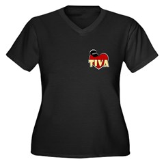 NCIS Tiva Women's Plus Size V-Neck Dark T-Shirt