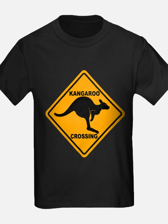 Kangaroo Crossing Sign T