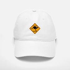Kangaroo Crossing Sign Baseball Baseball Cap