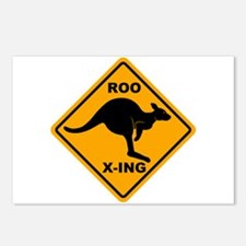 Roo X-ing Sign Postcards (Package of 8)