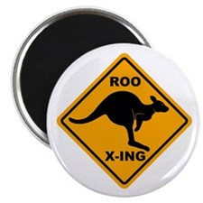 Roo X-ing Sign Magnet
