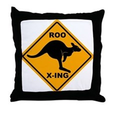 Roo X-ing Sign Throw Pillow