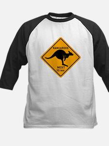 Kangaroos Next 10 km Sign Kids Baseball Jersey