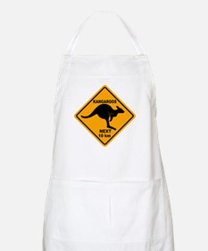 Kangaroos Next 10 km Sign Apron
