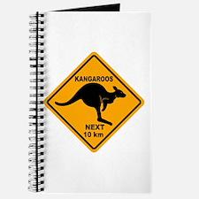 Kangaroos Next 10 km Sign Journal