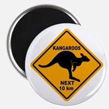 Kangaroos Next 10 km Sign Magnet