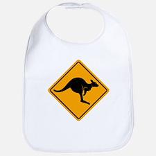 Kangaroo Road Sign Bib