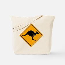 Kangaroo Road Sign Tote Bag