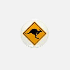 Kangaroo Road Sign Mini Button (10 pack)