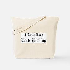 I Hella Love Lock Picking Tote Bag