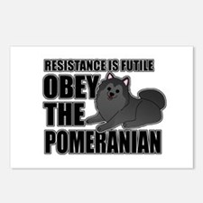 Obey The Pomeranian Postcards (Package of 8)