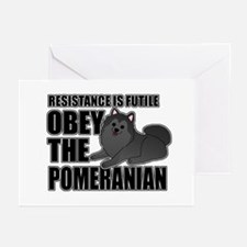 Obey The Pomeranian Greeting Cards (Pk of 10)